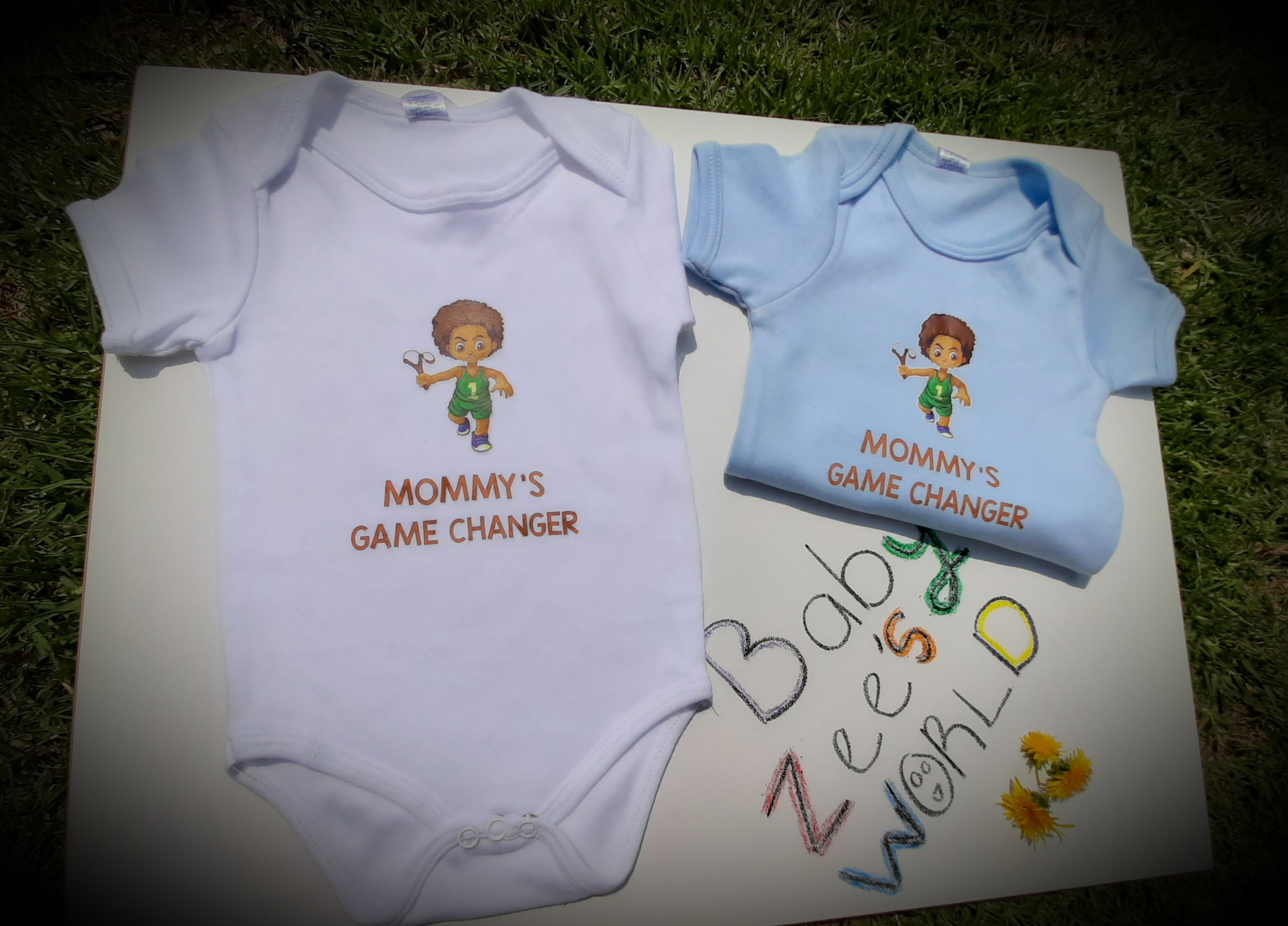 Short Sleeve Mommy's Game Changer baby grow