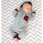 Load image into Gallery viewer, Newborn Infant Baby Boy Plaid
