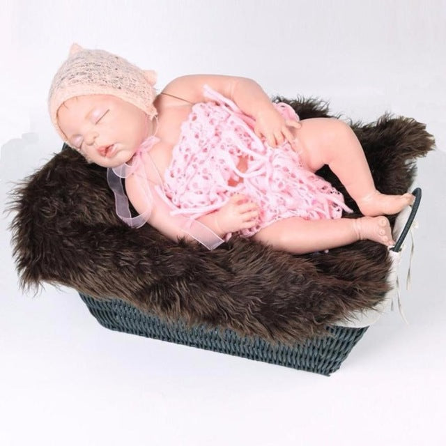 New Hot 60*50 cm Newborn Photography Props Faux
