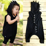 Load image into Gallery viewer, Dinosaur Hooded Jumpsuit