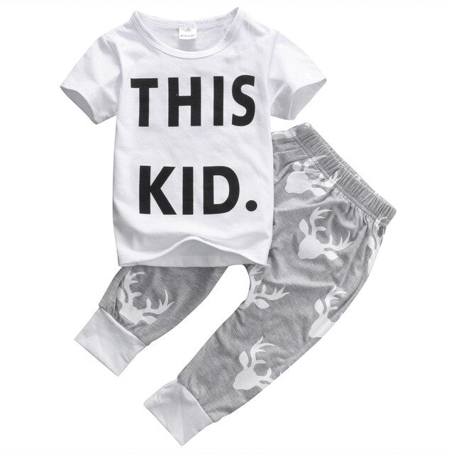 Pudcoco Toddler Boys set