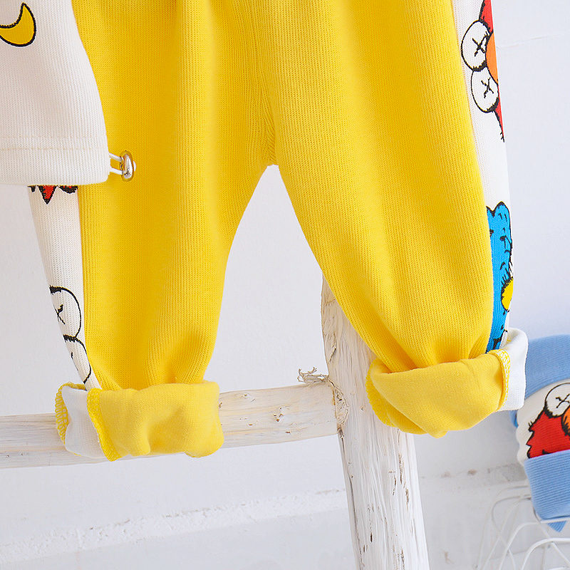 Spring Casual Cartoon Hoodie Jacket and Pants