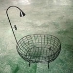 Load image into Gallery viewer, Newborn/infant Baby Photo Props Iron Basket Shower Bathtub