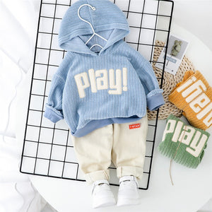 Spring Baby Cotton Hoodie and Pants 2Pcs Causal