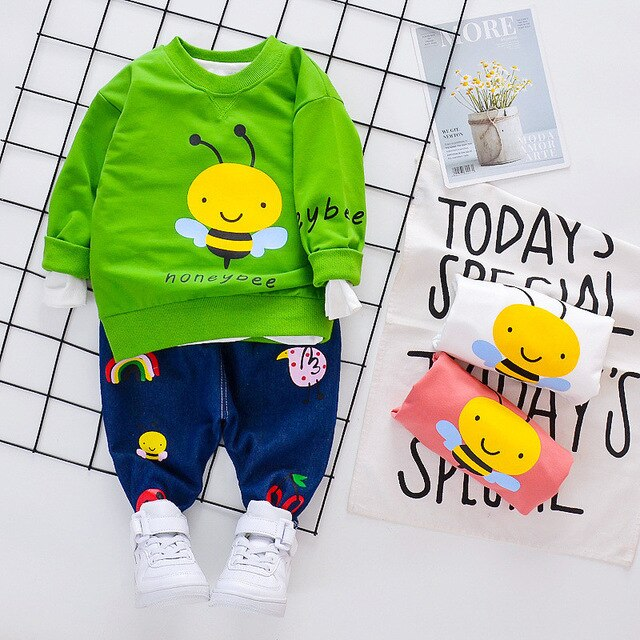 Spring Boys Bee T-shirt and Pants Outfits