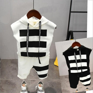 Summer Cotton Letter Boys Sets 2-6years