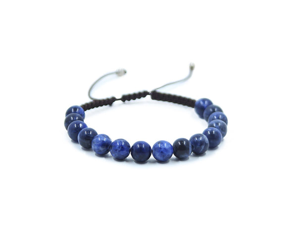 SODALITE HAND-KNITTED MEN'S BRACELET 8MM