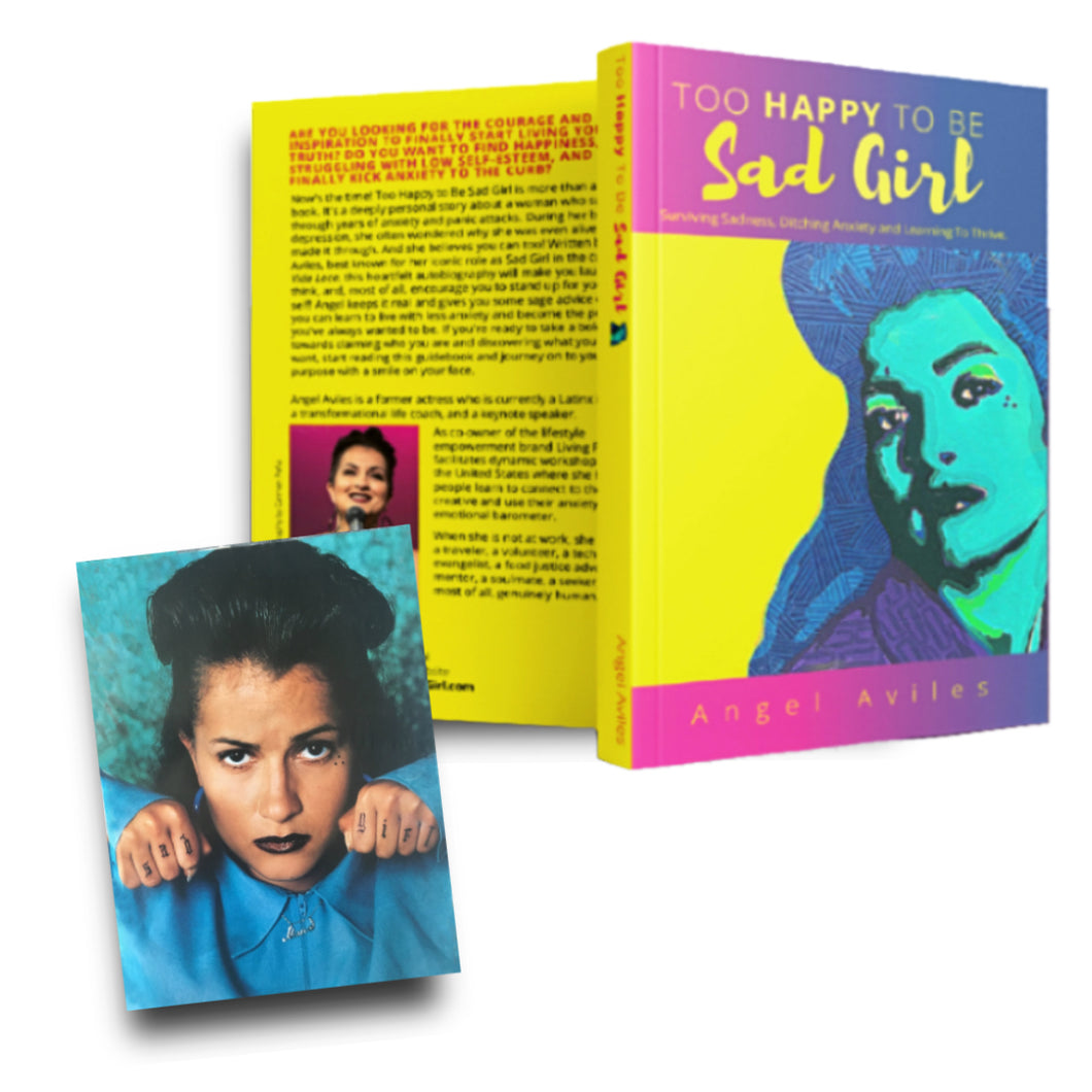 Signed Copy of Too Happy To Be Sad Girl PLUS Signed Sad Girl Post Card