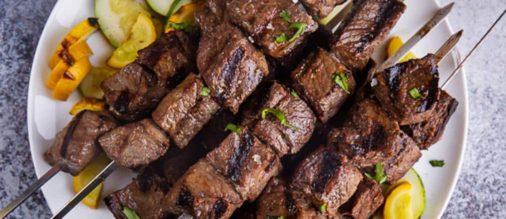 Beef Red Wine & Garlic Kebabs
