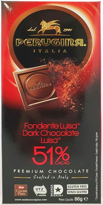 Perugina Dark Chocolate 51% Cacao 86g