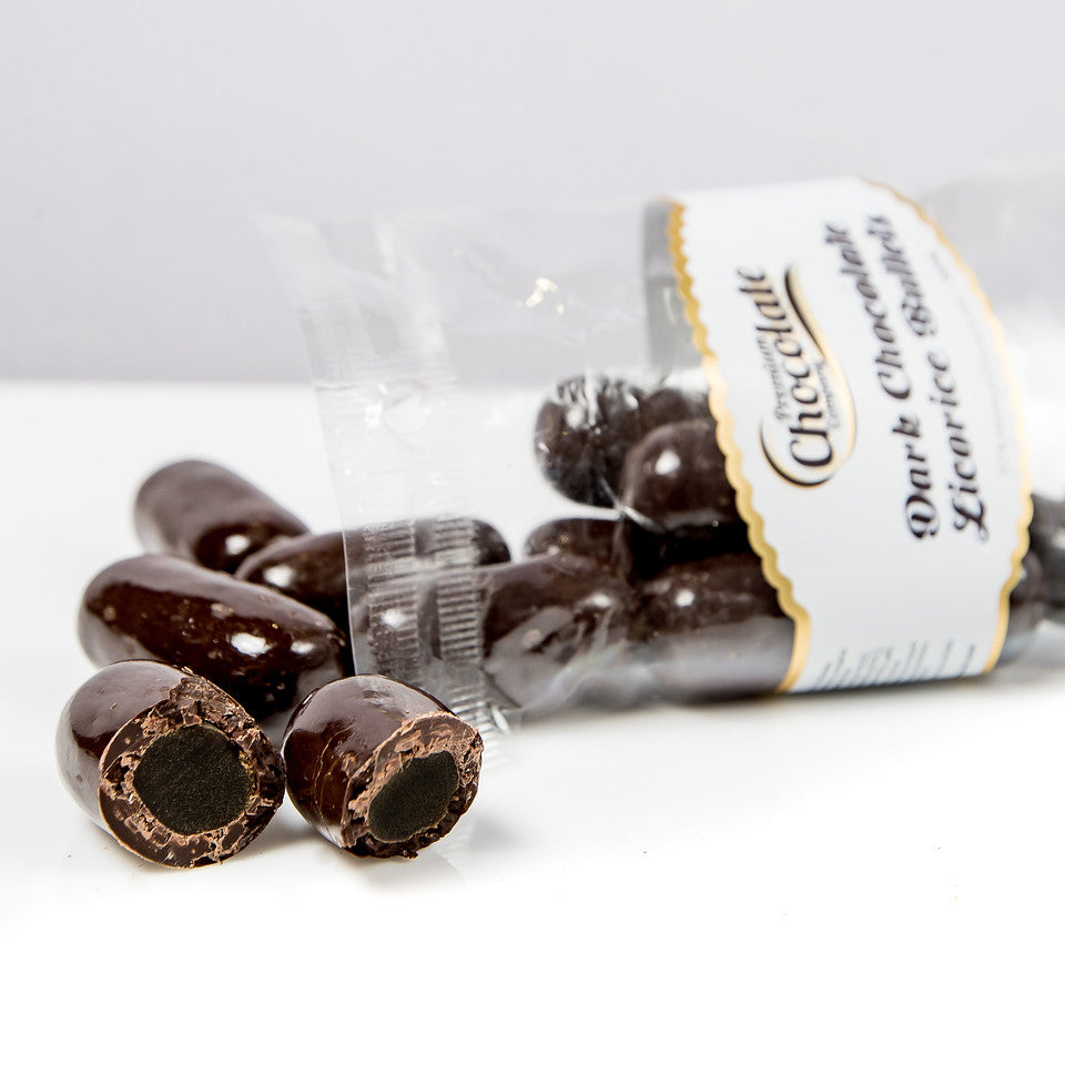 Load image into Gallery viewer, Dark Chocolate Licorice Bullets
