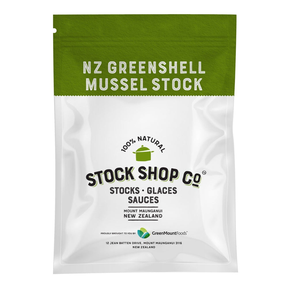 NZ Greenshell Mussel Stock (Frozen) 1litre