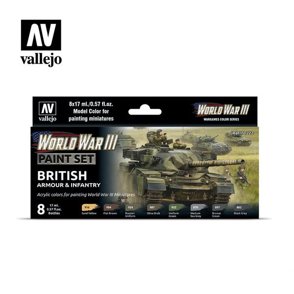 WWIII British Armour & Infantry  Paint Set