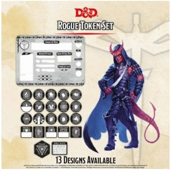 Rogue Token Set (Player Board & 22 tokens)