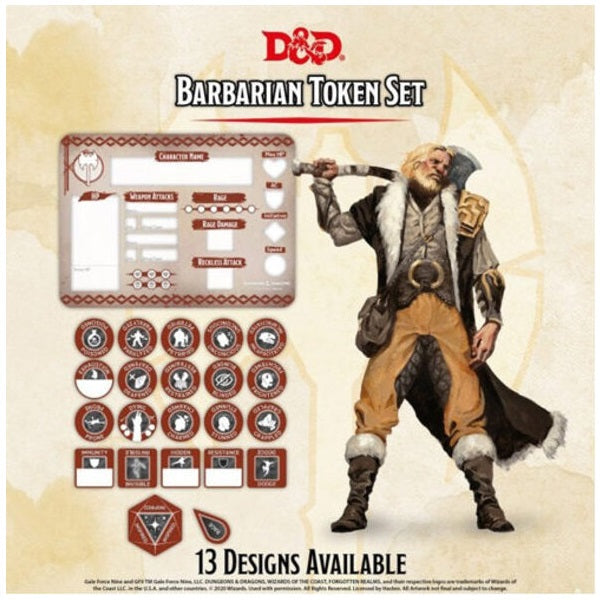 Barbarian Token Set (Player Board & 22 tokens)