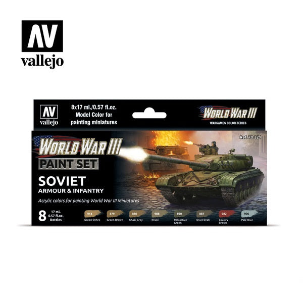 WWIII Soviet Armour & Infantry Paint Set