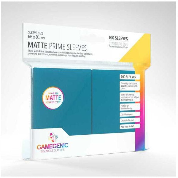 Gamegenic Matte Prime Sleeves Blue