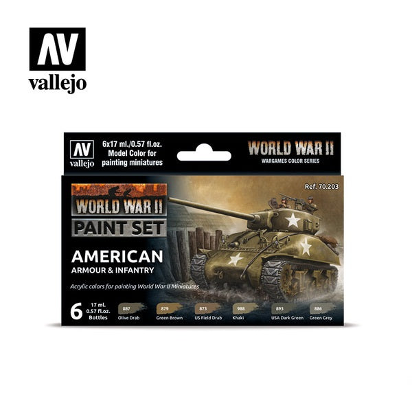 WWII American Armour & Infantry Paint Set