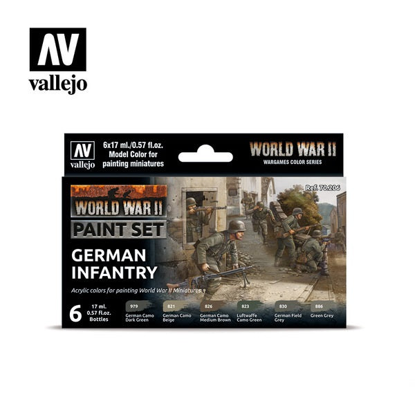 WWII German Infantry Paint Set