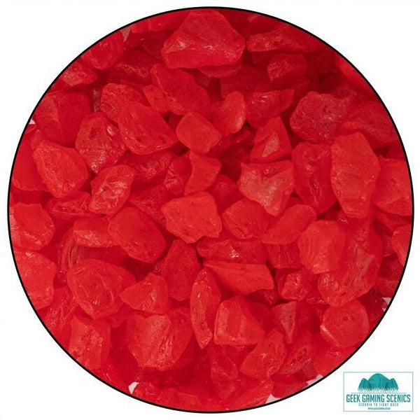 Glass Shards 4-10mm Red