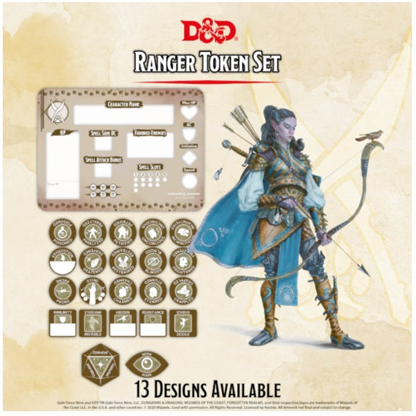 Ranger Token Set (Player Board & 22 tokens)