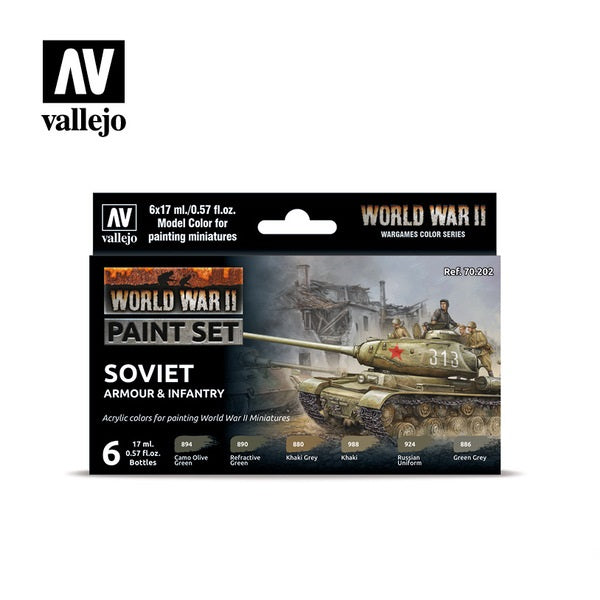 WWII Soviet Armour & Infantry Paint Set