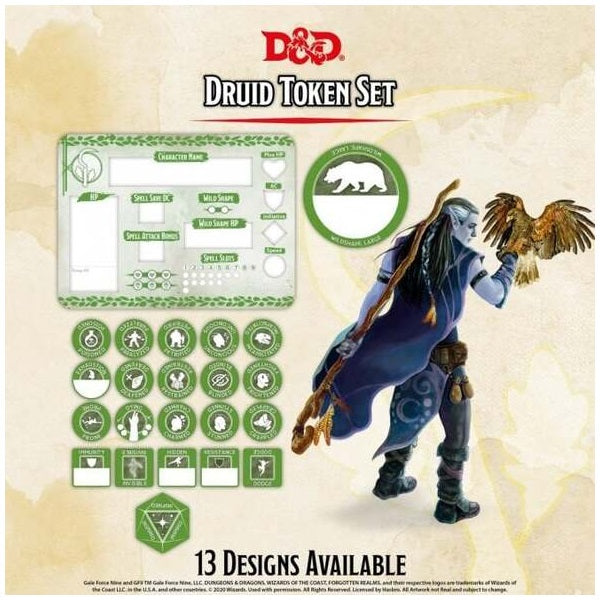 Druid Token Set (Player Board & 22 tokens)