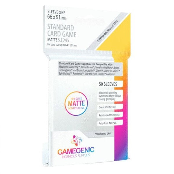 Gamegenic MATTE Standard Card Game Sleeves 66 x 91 mm