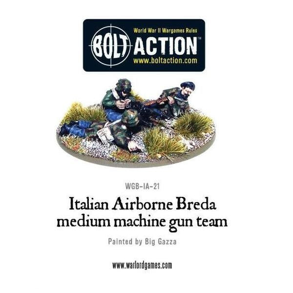 Italian Airborne Breda Medium Machine Gun Team