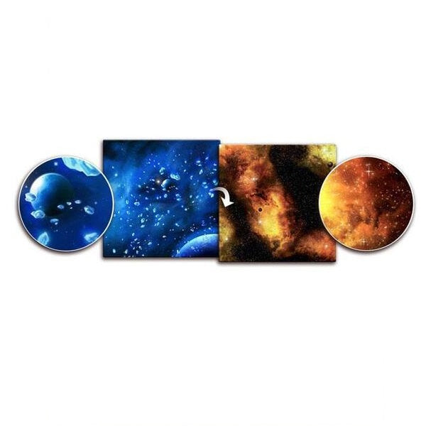 Ice Comets / Fiery Nebula Gaming Mat 3ft x 3ft