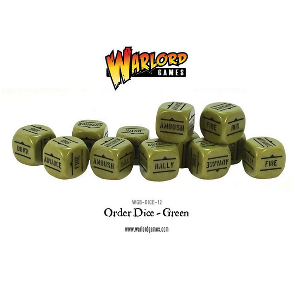 Order Dice - Green