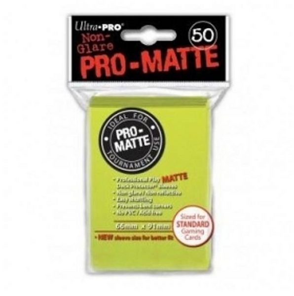 Pro Matte Sleeve x 60 Bright Yellow 62mm X 89mm