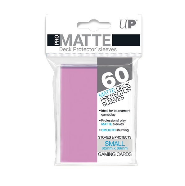 Pro Matte Sleeve x 60 Pink Small 62mm X 89mm