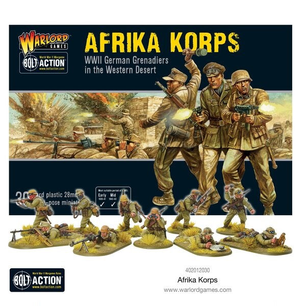 Afrika Korps Infantry - Grim Dice Tabletop Gaming