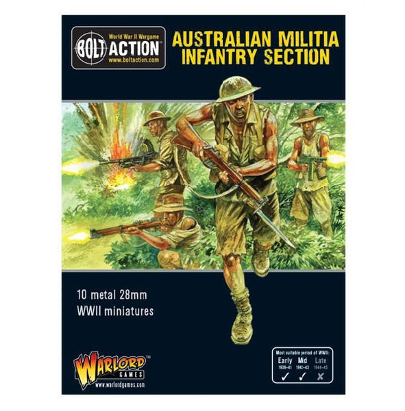 Australian Militia Infantry Section (Pacific) - Grim Dice Tabletop Gaming