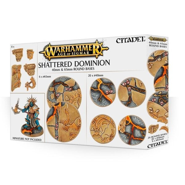 65mm & 40mm Round Bases, Shattered Dominion - Grim Dice Tabletop Gaming
