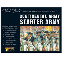 American War of Independence Continental Army Starter Set - Grim Dice Tabletop Gaming