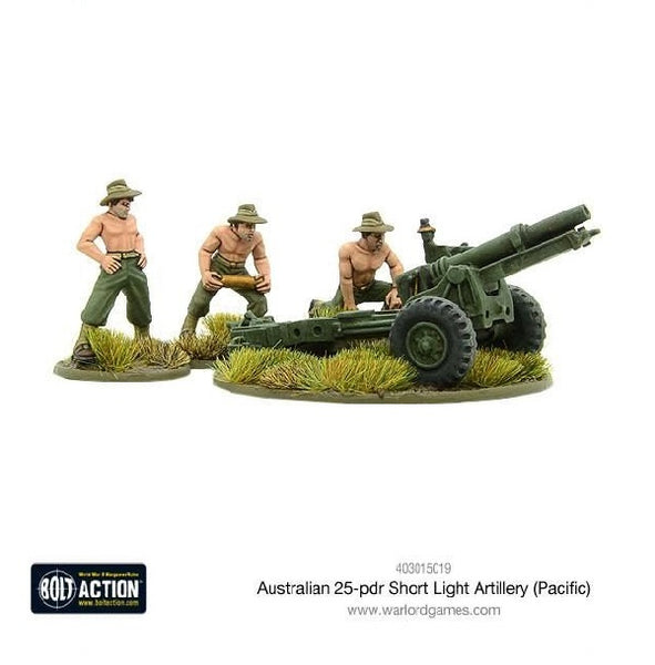 Australian Short 25-pdr (Pacific) - Grim Dice Tabletop Gaming