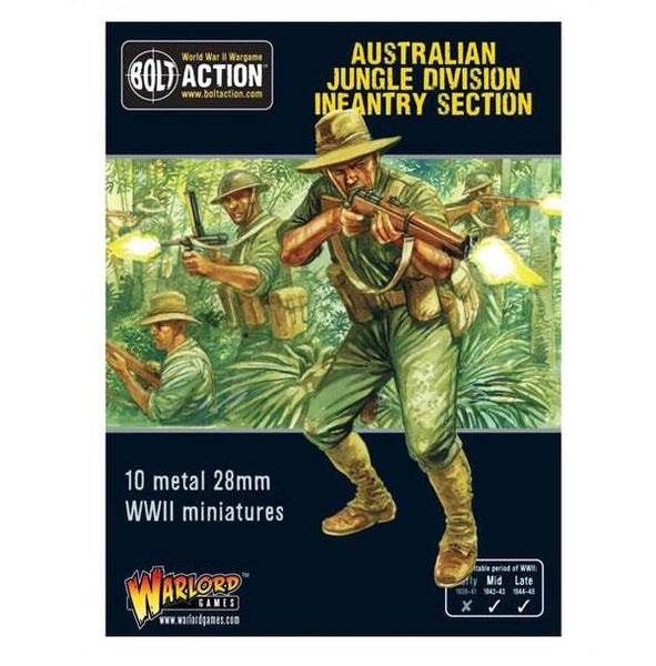 Australian Jungle Division infantry Section (Pacific) - Grim Dice Tabletop Gaming