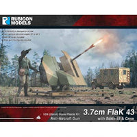 3.7cm Flak43 with SdAh 58 Trailer & Crew - Grim Dice Tabletop Gaming