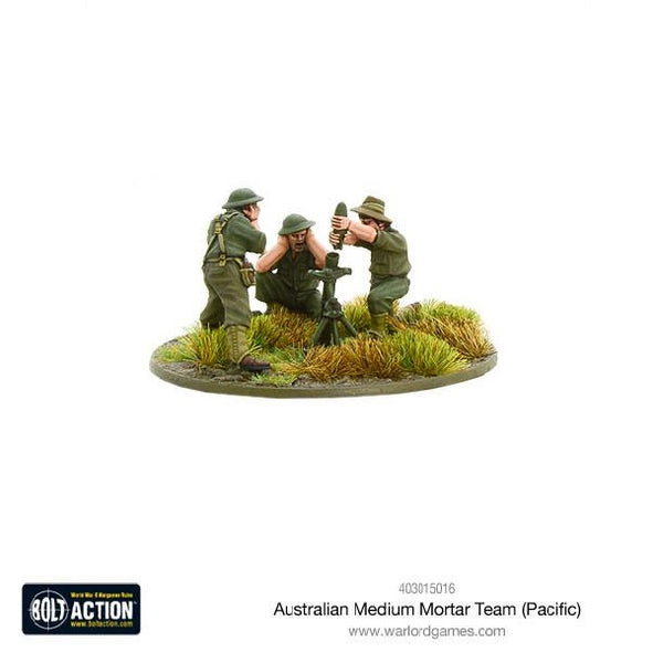 Australian Medium Mortar Team (Pacific) - Grim Dice Tabletop Gaming