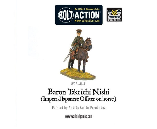 Baron Nishi (Imperial Japanese Officer on Horse) - Grim Dice Tabletop Gaming