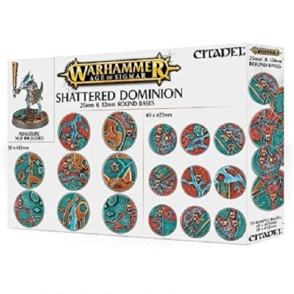 25mm & 32mm Round Bases, Shattered Dominion - Grim Dice Tabletop Gaming