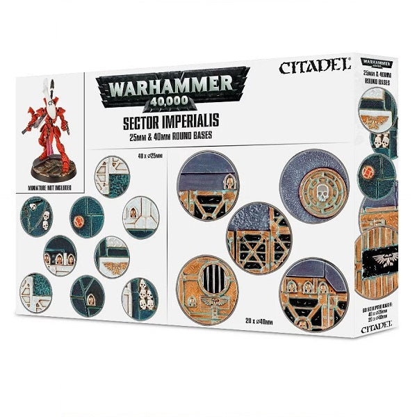 25mm & 40mm Round Bases, Sector Imperialis - Grim Dice Tabletop Gaming
