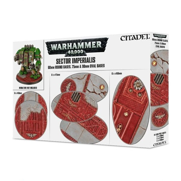 60mm & Oval Bases, Sector Imperialis - Grim Dice Tabletop Gaming