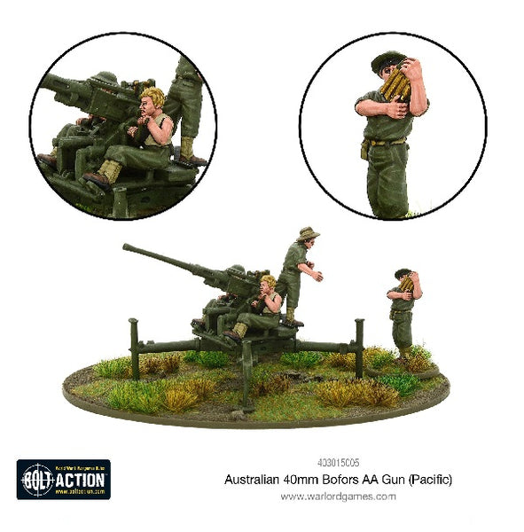 Australian 40mm Bofors AA Gun (Pacific) - Grim Dice Tabletop Gaming