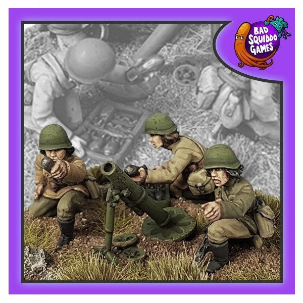 82mm Mortar Team - Grim Dice Tabletop Gaming