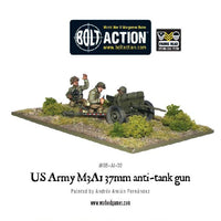 US Army M3A1 37mm Anti-Tank Gun - Grim Dice Tabletop Gaming
