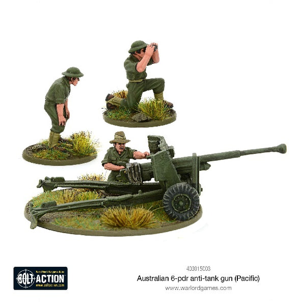 Australian 6-pdr Anti-Tank Gun (Pacific) - Grim Dice Tabletop Gaming