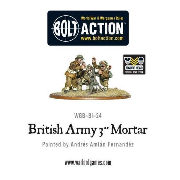 "British 3"" Mortar - Grim Dice Tabletop Gaming"